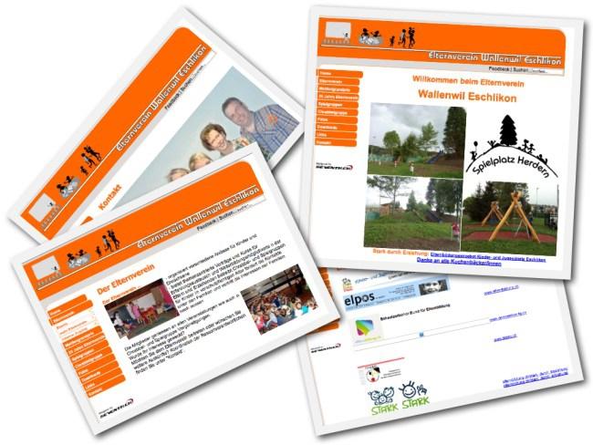 Alte website vom Elternverein Wallenwil Eschlikon