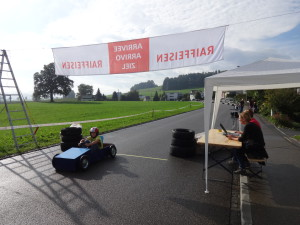 Zieleinfahrt am Mettlen Grand-Prix